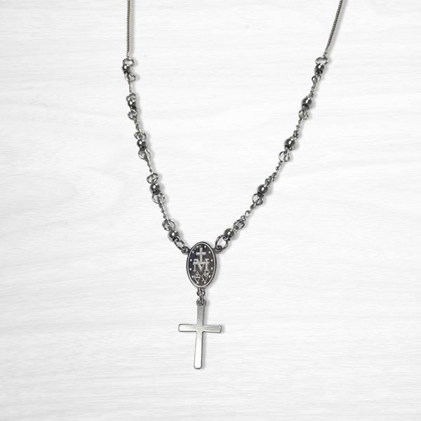 10 Beads Rosary Necklace Back